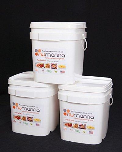 NuManna Triple Family Pack Long Term Storage Food