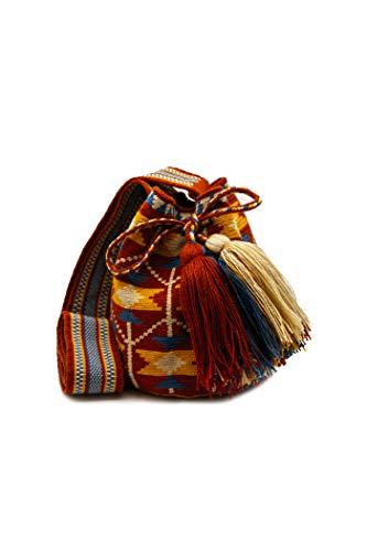 Gota de Agua accesorize Bolso Wayuu hecho a mano por mujeres indígenas...