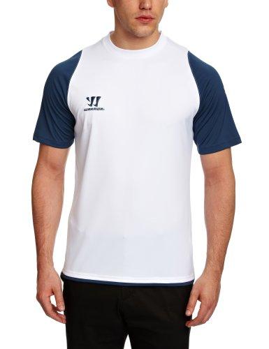 WARRIOR Skreamer - Camiseta Deportiva de Manga Corta Blanco Blanco y Azul Talla:XX-Large