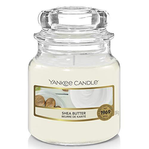 Yankee Candle Duftkerze im Glas (klein) | Shea Butter | Brenndauer bis zu 30 Stunden