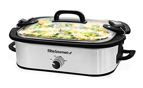 Elite Gourmet MST-5240SS Crock Slow...