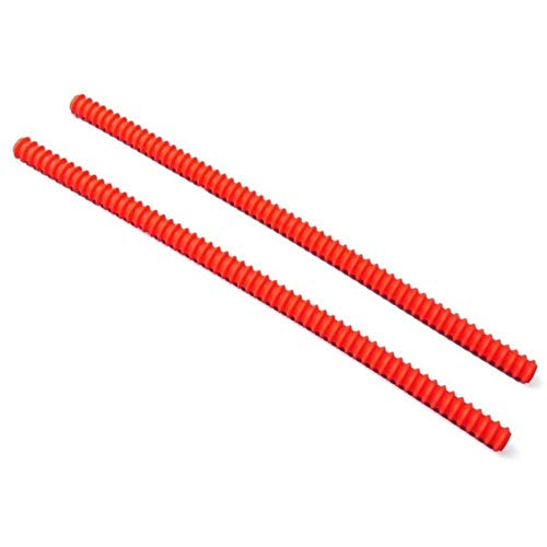 LLAAIT 2PCS Silikon Hochtemperaturschutz Ofen Regal Randschutz Rack Shield Burn Protector Rack Abdeckung Anti-Hot Bar, rot