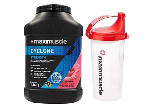 Maximuscle Cyclone - 1.26kg - Strawberry with Shaker