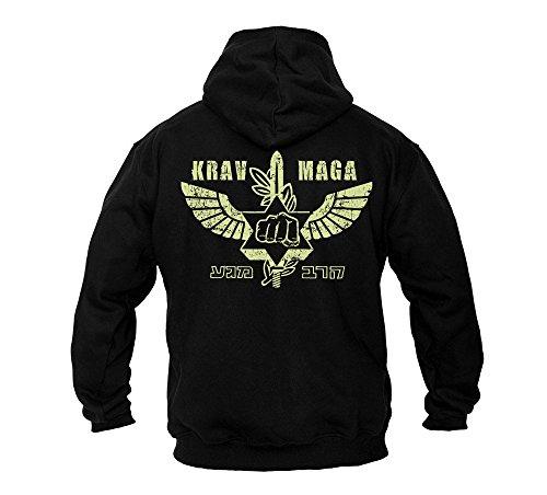 Dirty Ray Kampfsport MMA Krav MAGA Herren Kapuzenpullover B49 (XXL)