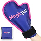 Hand Hot or Cold Pack in Glove Shape (Medium Size) for Arthritis, Chemo, Eczema & Carpal Tunnel Syndrome. Relief for Swollen & inflamed Hands in a Mitten Style with Inner Finger Cooling Pack (1 Pack)