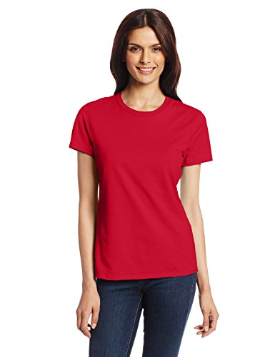Hanes Women's Nano Premium Cotton tee, Red, Medium