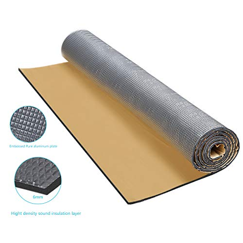 Guteauto 236 mil 15 sqft Sound Deadening Deadener Insulation Mat Automotive Deadener Wall Soundproofing Foam Panels 55
