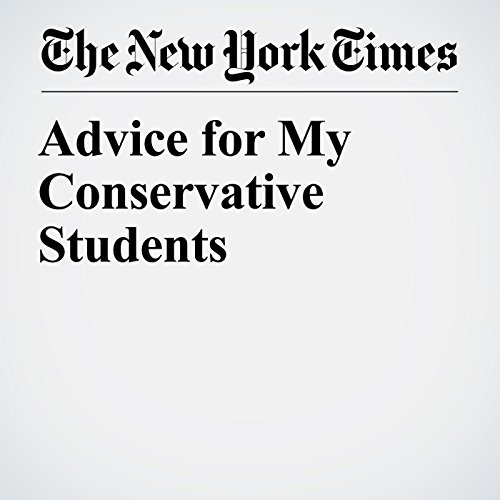 Advice for My Conservative Students copertina