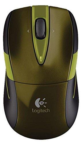 Logitech M525 Kabellose Maus, 2.4 GHz Verbindung via Unifying USB-Empfänger, 1000 DPI Sensor, 3-Jahre Akkulaufzeit, 5 Tasten, PC/Mac - grün