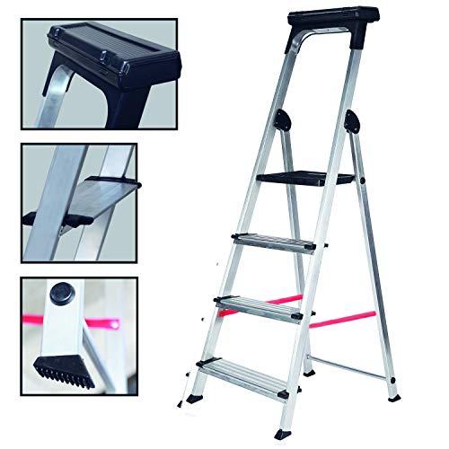 Escalera Ancha de Aluminio ELITE PLUS (4 Peldanos)