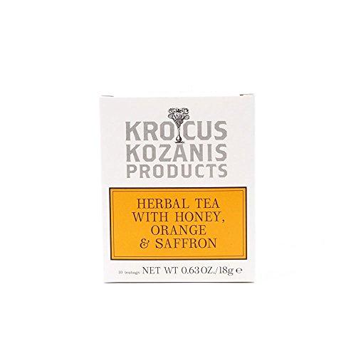 Krocus Kozanis Kräutertee mit Honig, Orange & Safran 10 Teebeutel