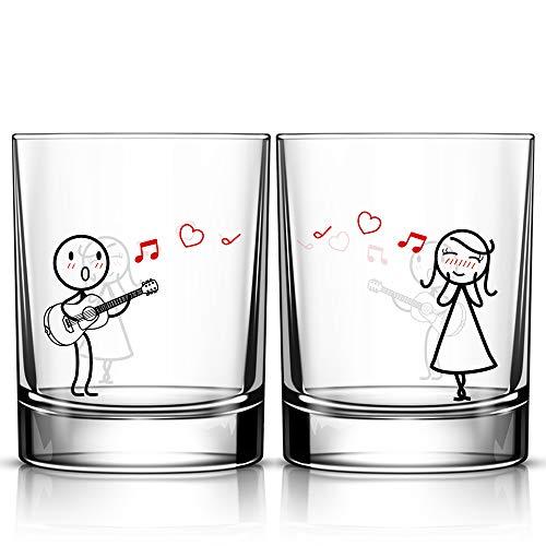 Love Me Tender Couples Glasses