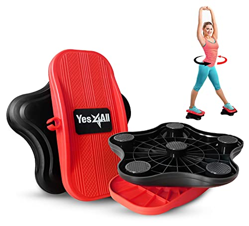 Yes4All Waist Twister, New Generation of Waist Twisting Disc, Ab Twister Board, Twist Disc Exercise, Twist Board, at-Home Workout Equipment for Weight Loss (Black/Red)