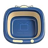 Toddmomy Baby Waschschüssel Klappbar Tragbar Neugeborenes Waschschale Waschwanne Multi Füße Po Waschbecken für Home Küche Outdoor Reisen Blau