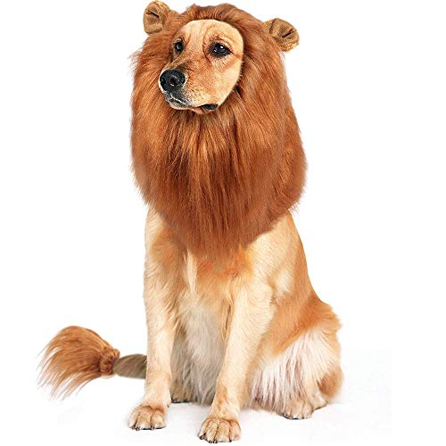 Lion Mane Wig for Dogs, Funny Pe...
