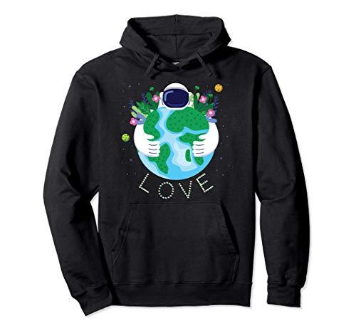 LOVE Earth Día de Tierra Planeta Medio Ambiente Astronauta Sudadera con Capucha