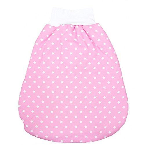 TupTam Baby Unisex Strampelsack mit breitem Bund Wattiert, Farbe: Sternchen Rosa/Weiß, Größe: 6-12 Monate