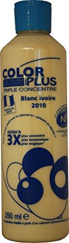 BLANC IVOIRE Colorant Ultra Concentré 250 ml COLOR PLUS pour toutes peintures décoratives et bâtiments. Performances Extrêmes. Permet la réalisation d'un crème à partir d'une peinture blanche.