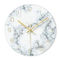 ウォールクロック おしゃれ クロック ミュート 大理石 パターン 壁掛け時計 掛け時計 モダン 円形 サイレント インテリア シンプル 時計 雑貨 装飾