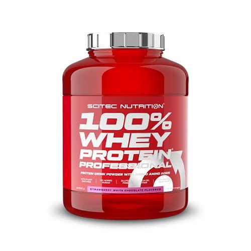 Scitec Nutrition 100% Whey Protein Professional, Fragola cioccolata bianca, 2350 g
