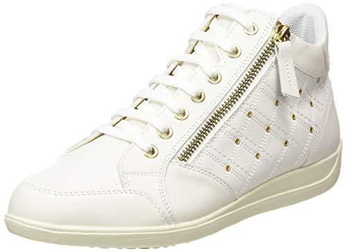 Geox D Myria G, Zapatillas Mujer, Blanco Crudo, 38 EU