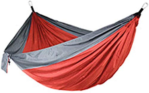 YSCYLY Hamaca Columpio,270 * 140cm Doble Hamaca,Carga Ultra Ligera NylóN De ParacaíDas PortáTil Y Transpirable,Ideal para Viaje JardíN, Camping