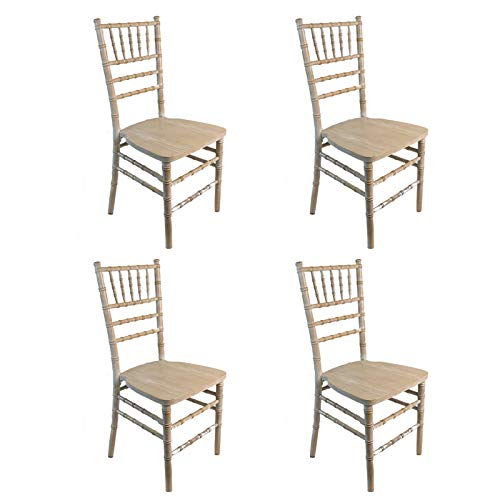 Silla Tiffany Decapé Blanca - (Pack de 4) - Apilables - para Cocinas y Eventos