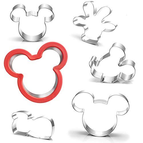 AAAAAA Lot de 6 emporte-pièces Mickey Mouse pour le visage et le pied, la souris