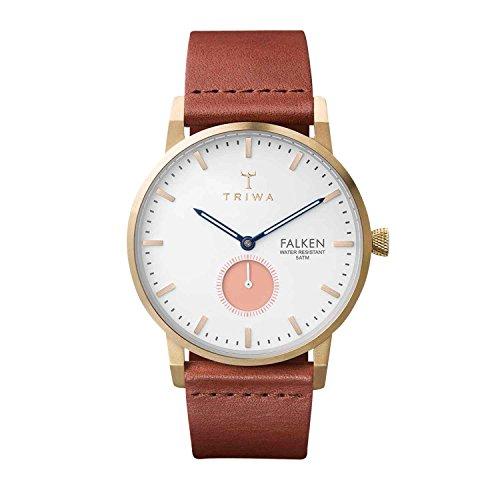 Triwa Unisex Erwachsene Chronograph Quarz Uhr mit Leder Armband FAST113-CL010213