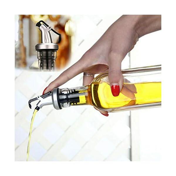 Boquilla de aceite de oliva, tapón de botella de acero inoxidable con