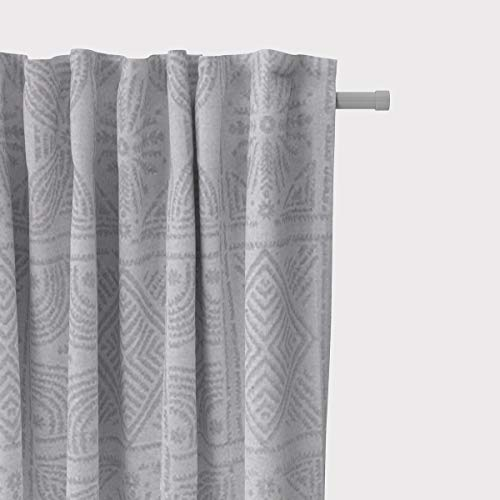 Mooi leven. Jaloezie gordijn met smok tape Jacquard abstract eenkleurig grijs 245cm of gewenste lengte