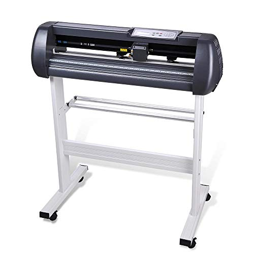"""Cutting Plotter Vinyl Cutter Machine 28"""" Adjustable Width with LCD Display USB Connection Auto Memory Digital Force Speed Rotating Blade Holder Stepper Motor US Delivery"""