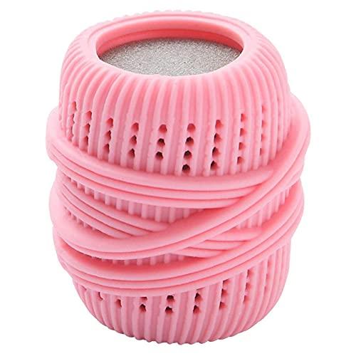 LMIX Palla per Bucato, Palline di Lavaggio Biancheria, Sfera per Lavatrice Asciugatrice Riutilizzabile, Sfera per Bucato Morbida Avanzata Anti Impigliamento (Rosa)