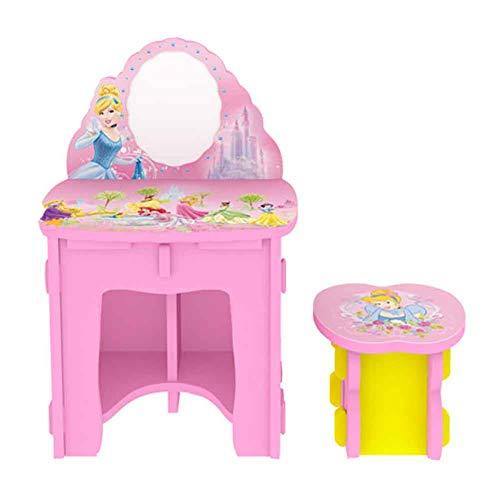 Duofenlh Mädchen Prinzessin Kommode Schlafzimmer Schminktisch Nette Kindermöbel, Pink