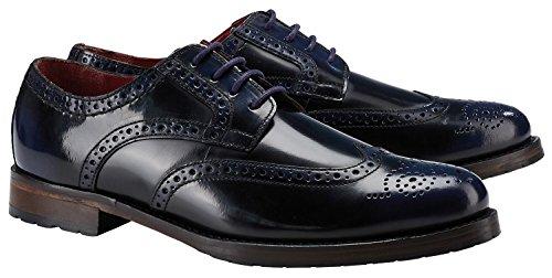 Wellensteyn Schuhe Donhurst farbig poliertes Leder (42, blau schwarz)