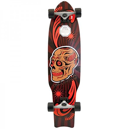 Tony Hawk Longboard Cruiser Kicktail Komplettboard Huck Jam Series 36 inch Day of Dead