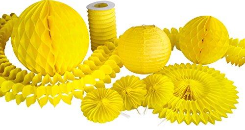 Heku Dekoration, Papier, gelb, 29x29x2 cm, 9-Einheiten