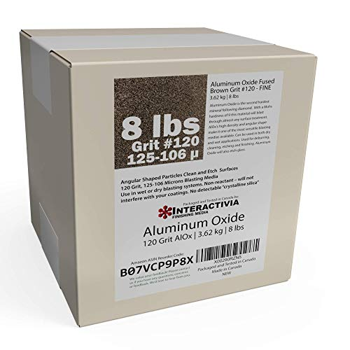 Read About #120 Aluminum Oxide - 8 LBS - Fine Sand Blasting Abrasive Media for Blasting Cabinet or B...
