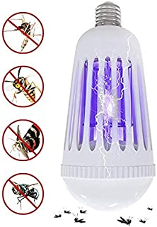 Wellgoo Bug Zapper Light Bulbs, Mosquito Killer Lamp, UV LED Electronic Insect Killer & Fly Trap for Indoor and Outdoor