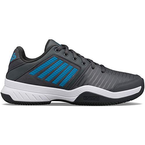 K-Swiss Performance Court Express HB, Zapatos de Tenis Hombre, Sombra Oscura/Blanco/Azul Sueco, 42.5 EU
