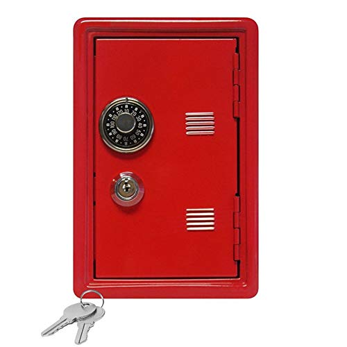 ZHIHUI Hucha Caja Fuerte Creativa Hucha Mini ATM Caja de Dinero en Efectivo contraseña Monedas Digitales Caja de Seguridad Seguridad Hucha Cerdito (Color : Red)