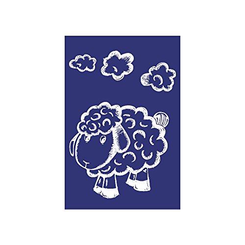 Rayher Schablone, Schaf, DIN A5, Gummi, Blau, 26 x 16,10 x 0,2 cm