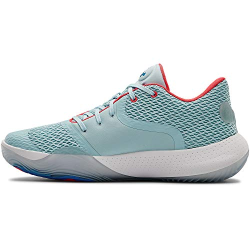 Under Armour Men's Spawn 2 Basketball Shoe, Blue Frost (401)/White, 16 M...
