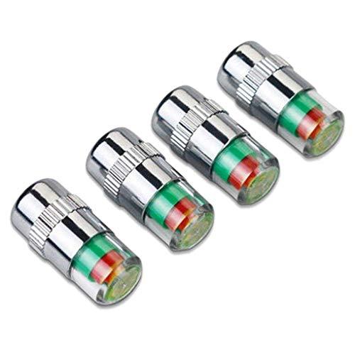 4pcs Auto Voiture Roue de Pneu Pression 3 indicateur de Couleur en Plastique Valve à air Tige Bouchon Couvercle Accessoires utiles et Pratique Li-ly