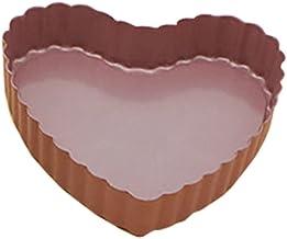 Yixikejiyouxian Plateau de Cuisson antiadhésif en Dentelle en Forme de Coeur de 4 Pouces Plateau de Cuisson de gâteau lége...