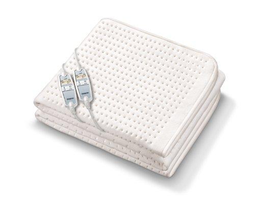 Monogram Luxurious Premium Heated Super King Size Dual Control Mattress Cover met vierheat zones