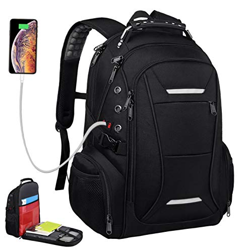 Laptop Backpack Anti-Theft Business Travel Backpacks with USB Charging Port Water Resistant College School Computer Bag for Women & Men Fits 15.6-17.3 Inch Laptop and Notebook