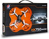 X ZINI Plastic HX750 Drone 2.6 Ghz 6 Channel Remote Control Quadcopter Stable Remote-Control Quadcopter with Two Extra Blades, Pack of 1, Multicolor