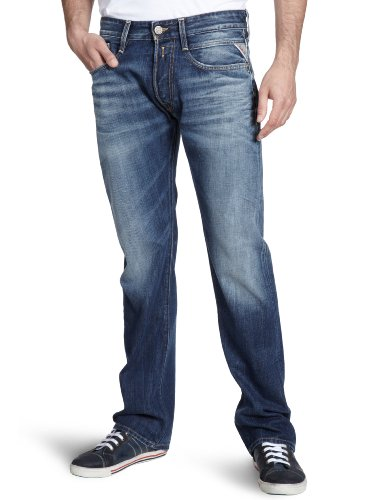 Replay Herren Jeans  Billstrong M955Y .000.118 046, Gr. 30/34, Blau (12.5 OZ FLAT FINISH DENIM)