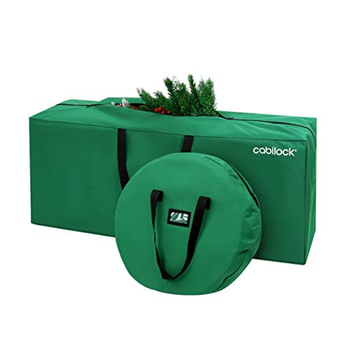 Cabilock - Bolsa de almacenamiento para árbol de Navidad, resistente al agua, tela Oxford, asas reforzadas, asas duraderas, árbol artificial, bolsa de almacenamiento